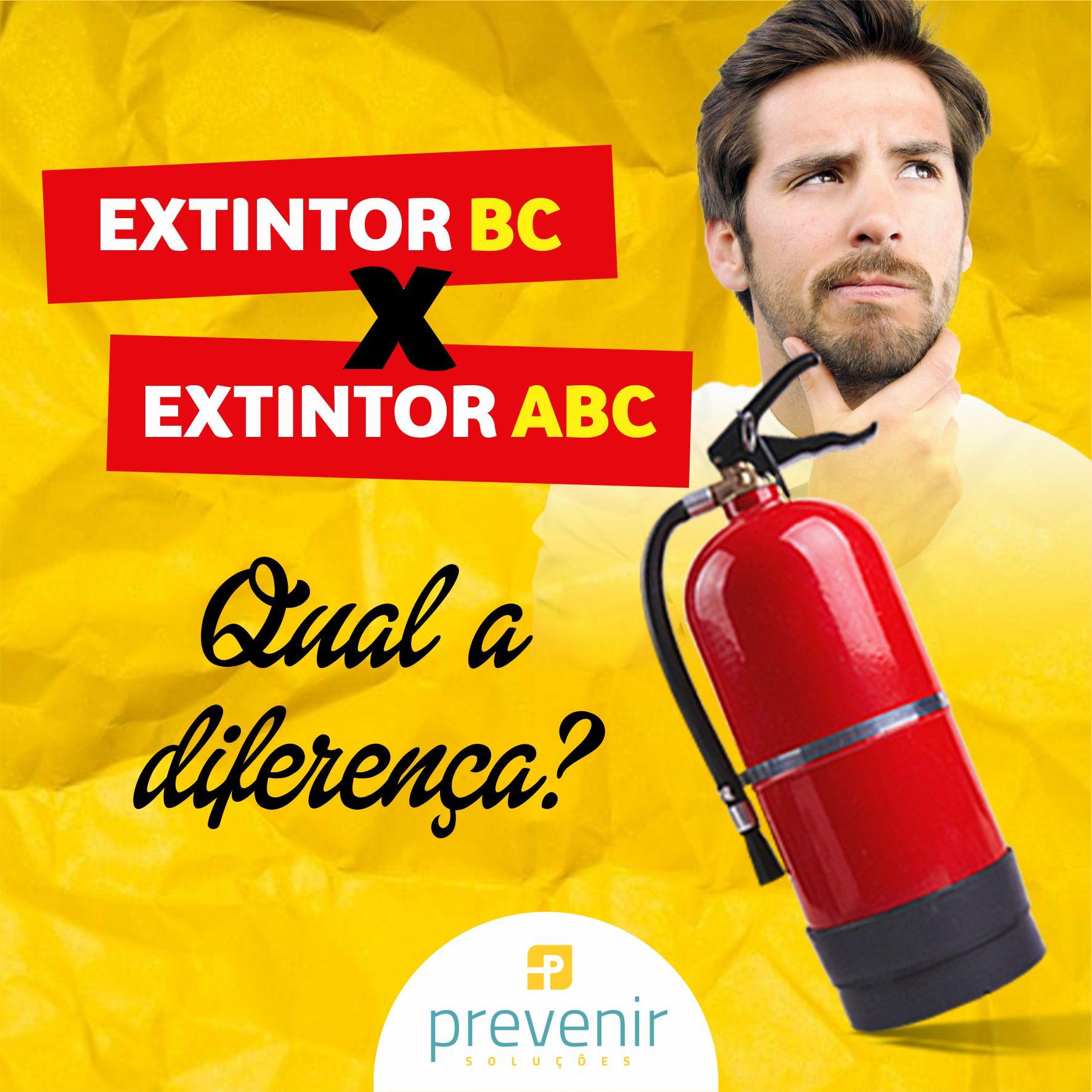 Existem vários tipos de extintores, mas os principais são os BC e ABC.