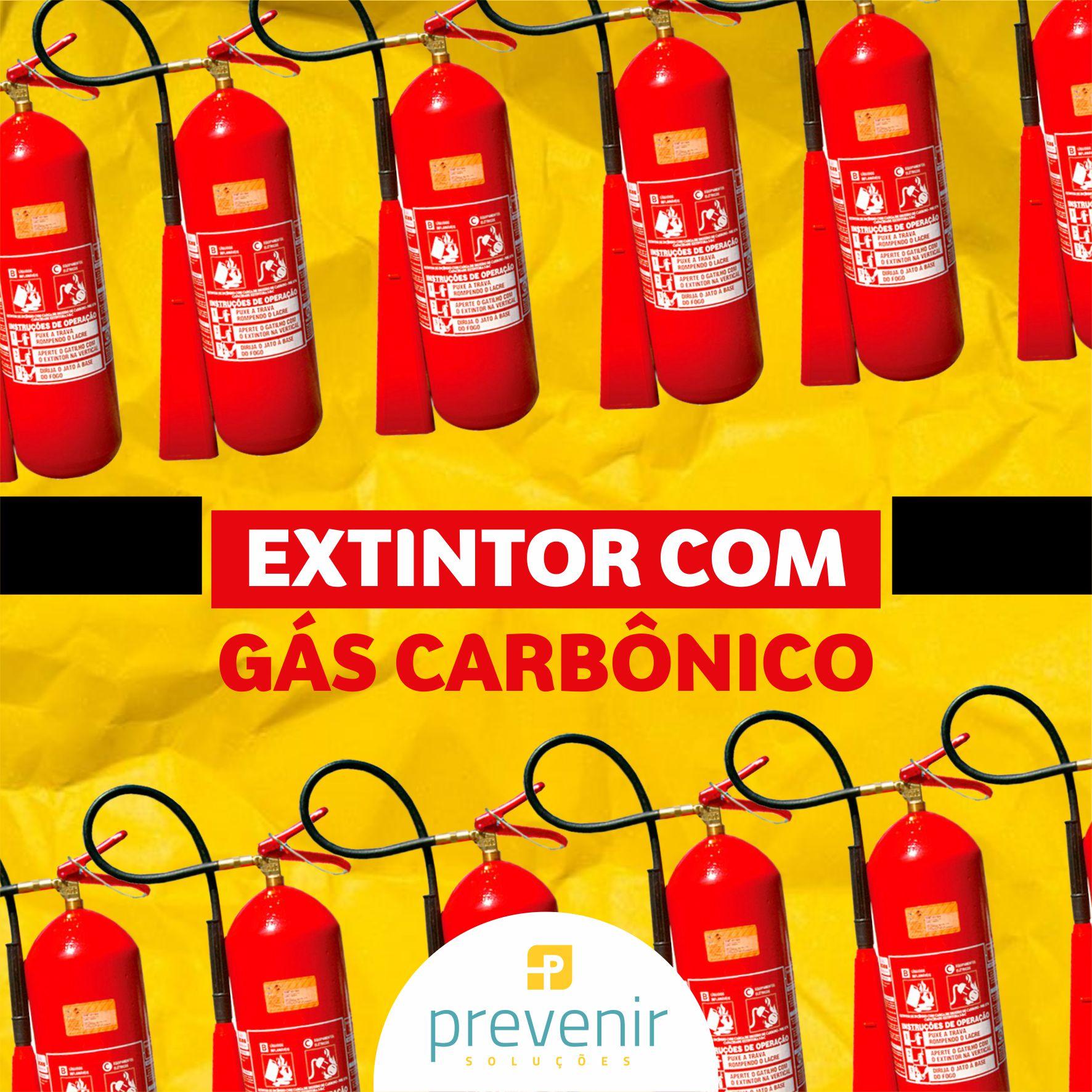 Extintor com gás carbônico