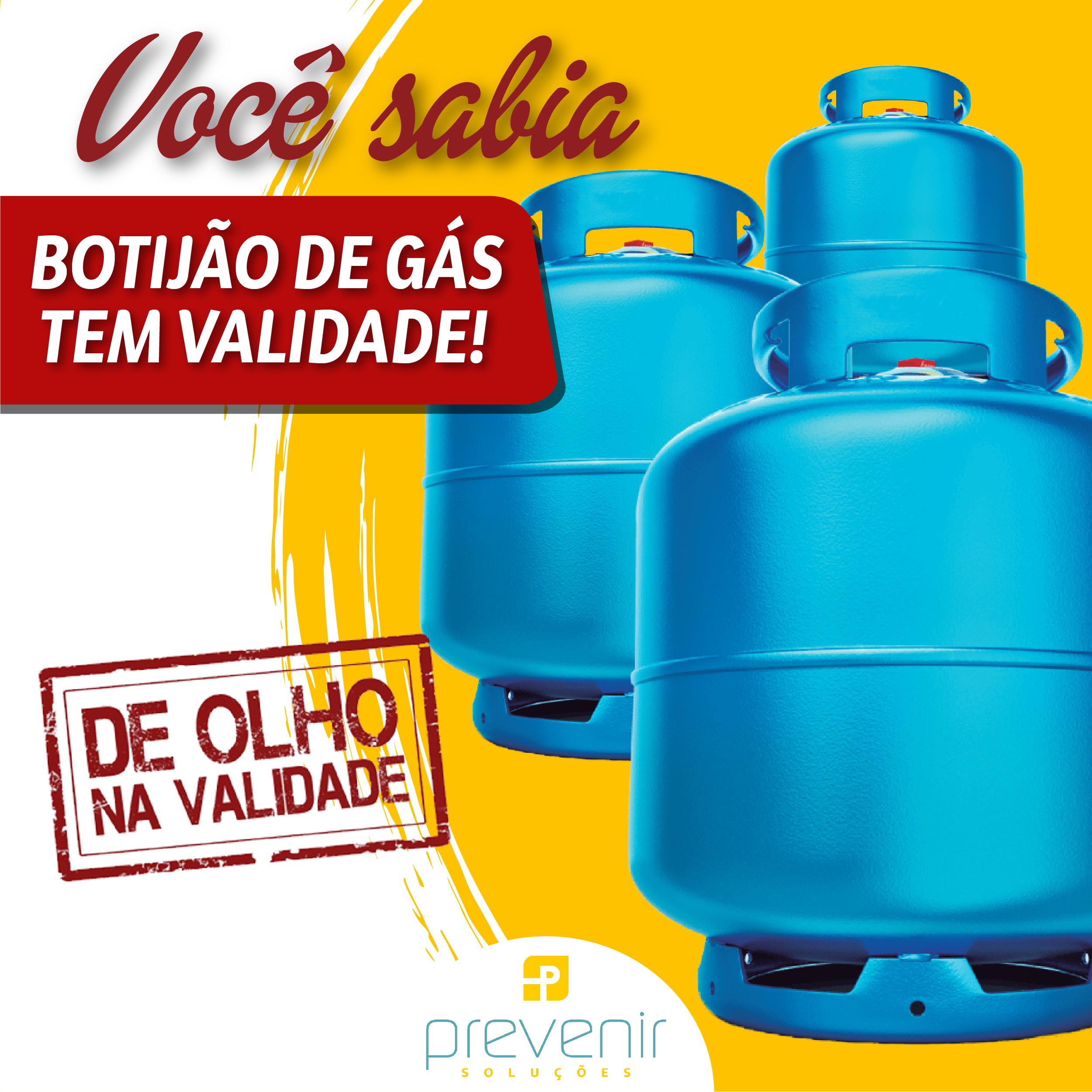Você sabia que botijão de gás tem validade?