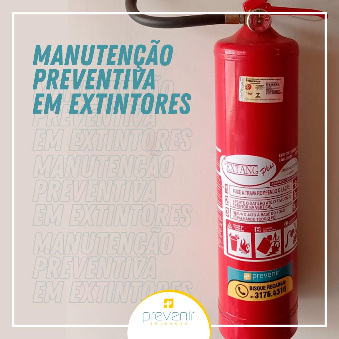 Manutenção preventiva em extintores