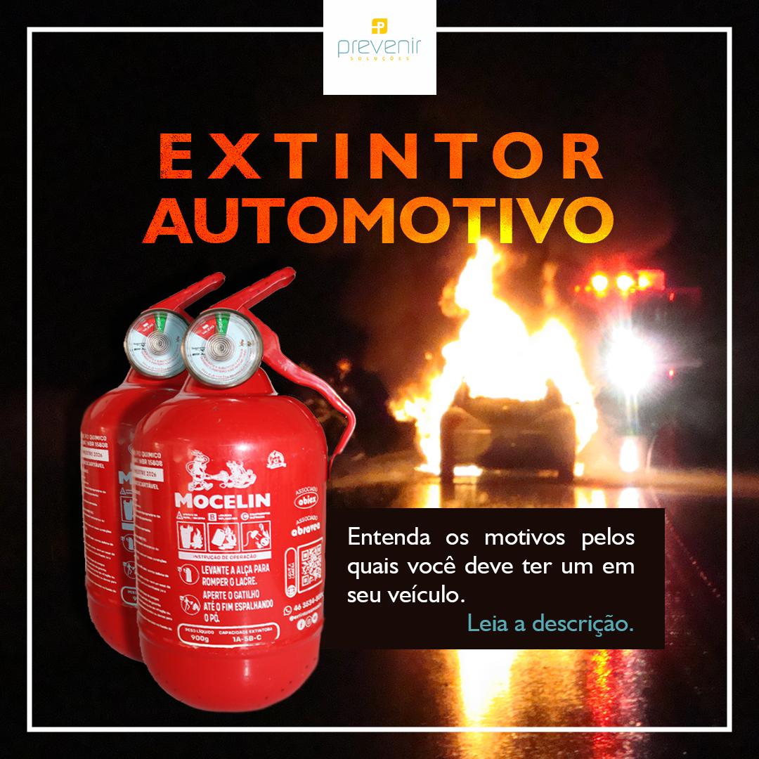 Extintor automotivo: Motivos pelos quais você deve ter um em seu veículo